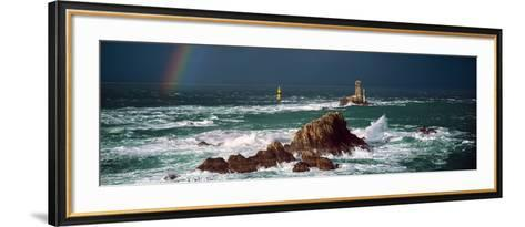 Winter Storm Weather at La Vieille Lighthouse, Finistere, Brittany, France--Framed Art Print