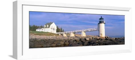 Marshall Point Lighthouse from 1832, Penobscot Bay, Port Clyde, Maine--Framed Art Print