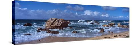 Rock Formations at the Coast, Brignogan, Finistere, Brittany, France--Stretched Canvas Print