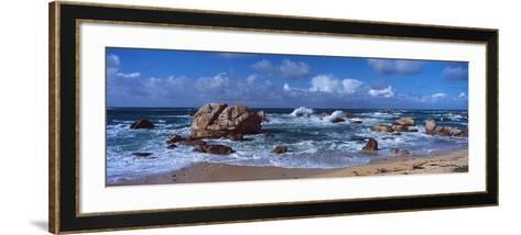 Rock Formations at the Coast, Brignogan, Finistere, Brittany, France--Framed Art Print