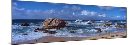 Rock Formations at the Coast, Brignogan, Finistere, Brittany, France--Mounted Photographic Print