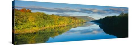 Delaware River in Autumn, Near Port Jarvis, Pennsylvania--Stretched Canvas Print