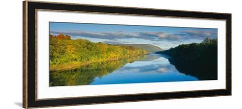 Delaware River in Autumn, Near Port Jarvis, Pennsylvania--Framed Art Print