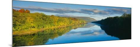 Delaware River in Autumn, Near Port Jarvis, Pennsylvania--Mounted Photographic Print