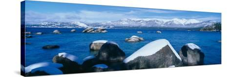 Lake Tahoe in Winter, California--Stretched Canvas Print
