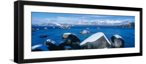Lake Tahoe in Winter, California--Framed Art Print
