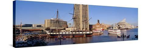 Uss Constellation, Inner Harbor, Baltimore, Maryland--Stretched Canvas Print