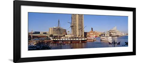 Uss Constellation, Inner Harbor, Baltimore, Maryland--Framed Art Print