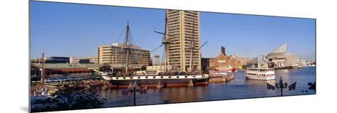 Uss Constellation, Inner Harbor, Baltimore, Maryland--Mounted Photographic Print