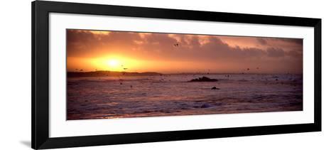 Sunrise over the Plouharnel Beach, Morbihan, Brittany, France--Framed Art Print