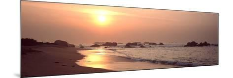 Sunset over the Beach, Brignogan, Finistere, Brittany, France--Mounted Photographic Print