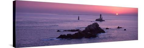 La Vieille Lighthouse at Sunset, Finistere, Brittany, France--Stretched Canvas Print