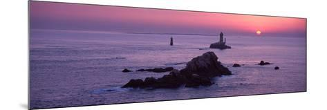 La Vieille Lighthouse at Sunset, Finistere, Brittany, France--Mounted Photographic Print