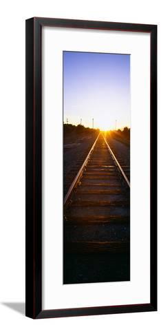 Sunrise over Railroad Tracks Near Fillmore, California--Framed Art Print