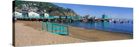 Casino Building and Avalon Harbor, Avalon, Catalina Island, California--Stretched Canvas Print