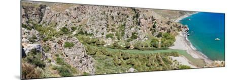 Elevated View of the Preveli Beach, Rethymno, Crete, Greece--Mounted Photographic Print
