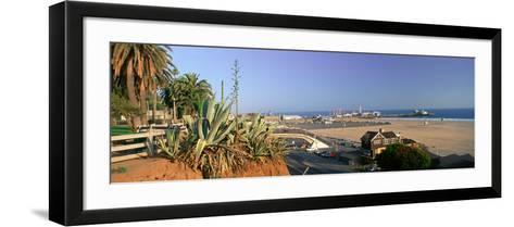 Santa Monica, Overlooking the Beach and Santa Monica Pier, California--Framed Art Print