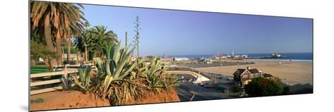 Santa Monica, Overlooking the Beach and Santa Monica Pier, California--Mounted Photographic Print