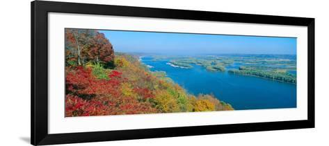 Confluence of Mississippi and Wisconsin Rivers, Iowa--Framed Art Print