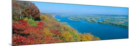 Confluence of Mississippi and Wisconsin Rivers, Iowa--Mounted Photographic Print