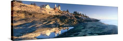 Sunrise at Pemaquid Point Lighthouse from 1827, Maine--Stretched Canvas Print