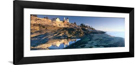 Sunrise at Pemaquid Point Lighthouse from 1827, Maine--Framed Art Print