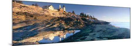 Sunrise at Pemaquid Point Lighthouse from 1827, Maine--Mounted Photographic Print