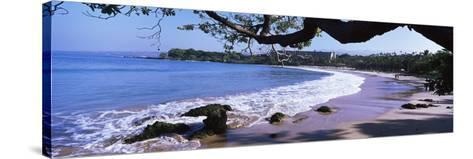 Surf on the Beach, Mauna Kea, Hawaii, Usa--Stretched Canvas Print