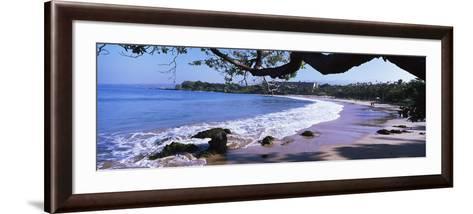 Surf on the Beach, Mauna Kea, Hawaii, Usa--Framed Art Print