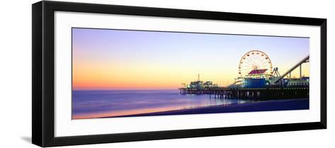 Santa Monica Pier at Sunset, California--Framed Art Print