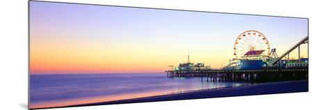 Santa Monica Pier at Sunset, California--Mounted Photographic Print