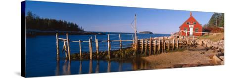 Lobster Village in Autumn, Stonington, Maine--Stretched Canvas Print