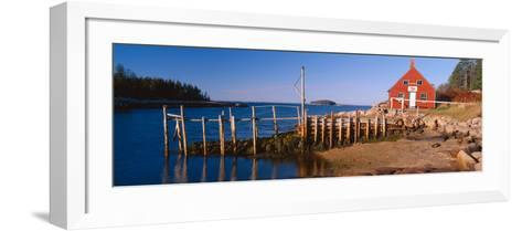 Lobster Village in Autumn, Stonington, Maine--Framed Art Print