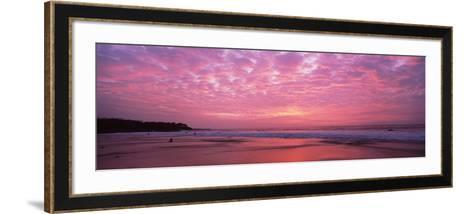 Surf on the Beach at Sunset, Hapuna Beach, Kohala Coast, Hawaii, Usa--Framed Art Print