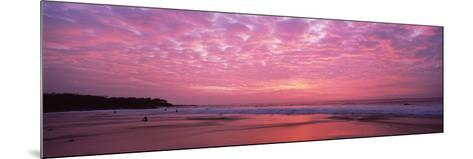Surf on the Beach at Sunset, Hapuna Beach, Kohala Coast, Hawaii, Usa--Mounted Photographic Print