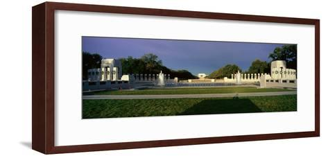 U.S. World War Ii Memorial Commemorating World War Ii in Washington D.C. at Sunrise--Framed Art Print