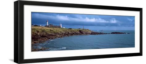 Lighthouse on the Coast, Saint Mathieu Lighthouse, Finistere, Brittany, France--Framed Art Print