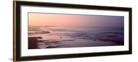 Sunrise over the Beach, Fort Bloque Beach, Guidel, Morbihan, Brittany, France--Framed Art Print