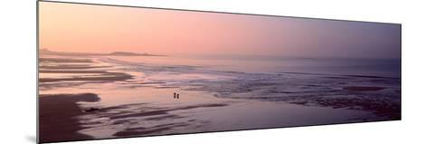 Sunrise over the Beach, Fort Bloque Beach, Guidel, Morbihan, Brittany, France--Mounted Photographic Print