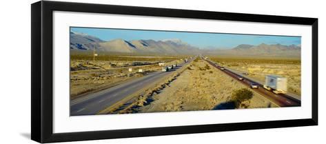 Interstate 15, Near Las Vegas, after Winter Storm, Nevada--Framed Art Print