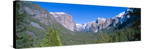 El Capitan and Half Dome in Yosemite, California--Stretched Canvas Print