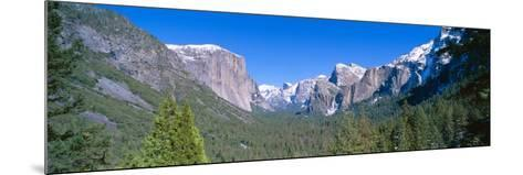 El Capitan and Half Dome in Yosemite, California--Mounted Photographic Print