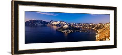 Crater Lake, Oregon at Winter--Framed Art Print
