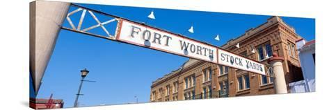Stock Yards, Fort Worth, Texas--Stretched Canvas Print