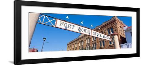 Stock Yards, Fort Worth, Texas--Framed Art Print