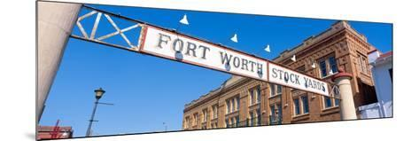 Stock Yards, Fort Worth, Texas--Mounted Photographic Print