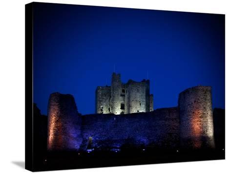 The Flood Lit Walls of Trim Casle, Trim, County Meath, Ireland--Stretched Canvas Print
