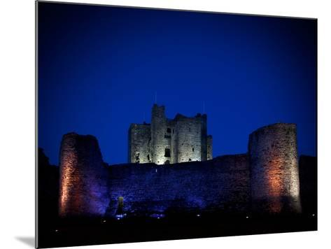 The Flood Lit Walls of Trim Casle, Trim, County Meath, Ireland--Mounted Photographic Print