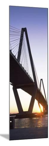 Bridge across a River at Dusk--Mounted Photographic Print