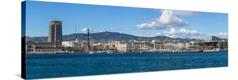 View of the Port of Barcelona, Barcelona, Catalonia, Spain--Stretched Canvas Print